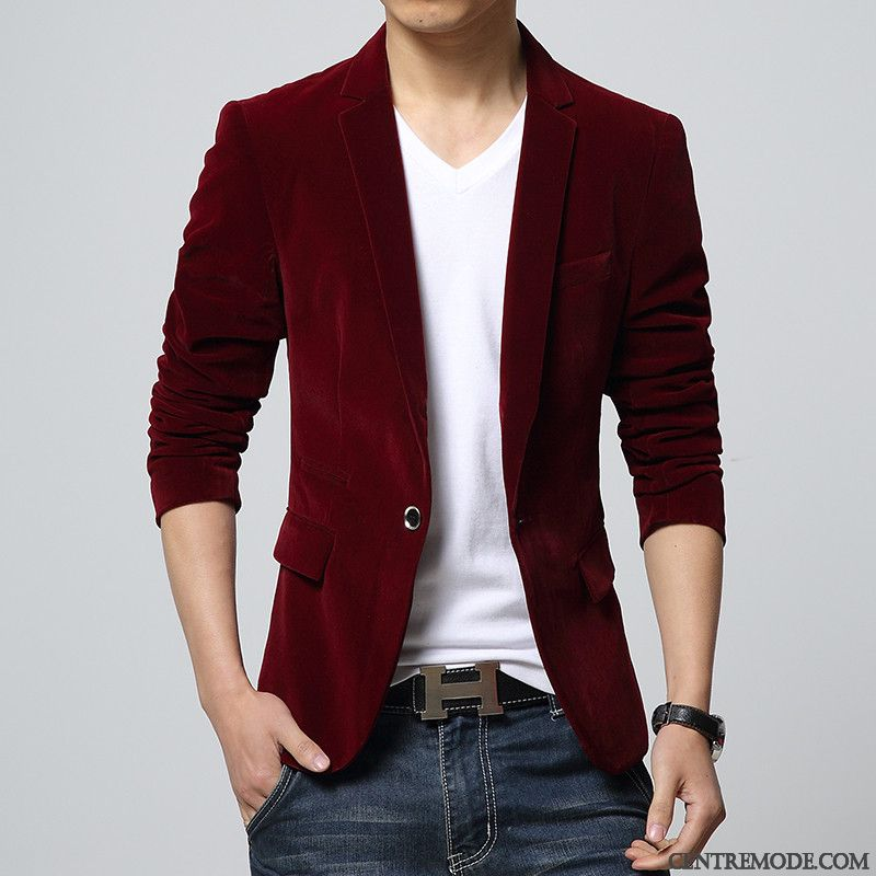Clair Sandybrown RougePantalon Blazer Homme Gris Costume Vin oWQrxdeBC