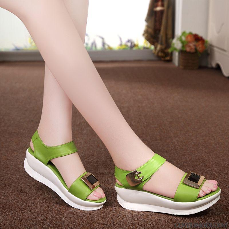 Chaussure Confort Femme Pas Cher Vert D'eau Seagreen