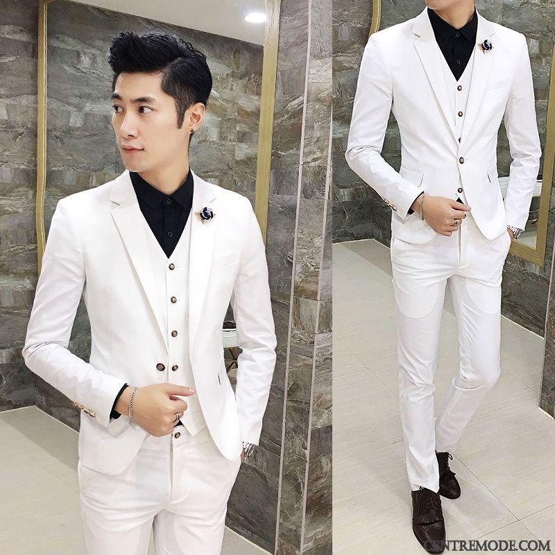 Costume homme mariage blanc et noir - Idée de Costume et vêtement c6cbad29419