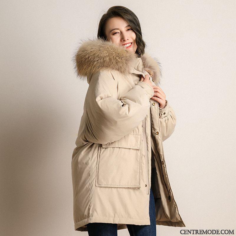 best website b745b b0ea7 Doudoune-Fourrure-Capuche-Femme-Marine-Blanc-Neigeux-Doudoune-Femme -Mi-Longue-Pas-Cher-8466-c1.jpg