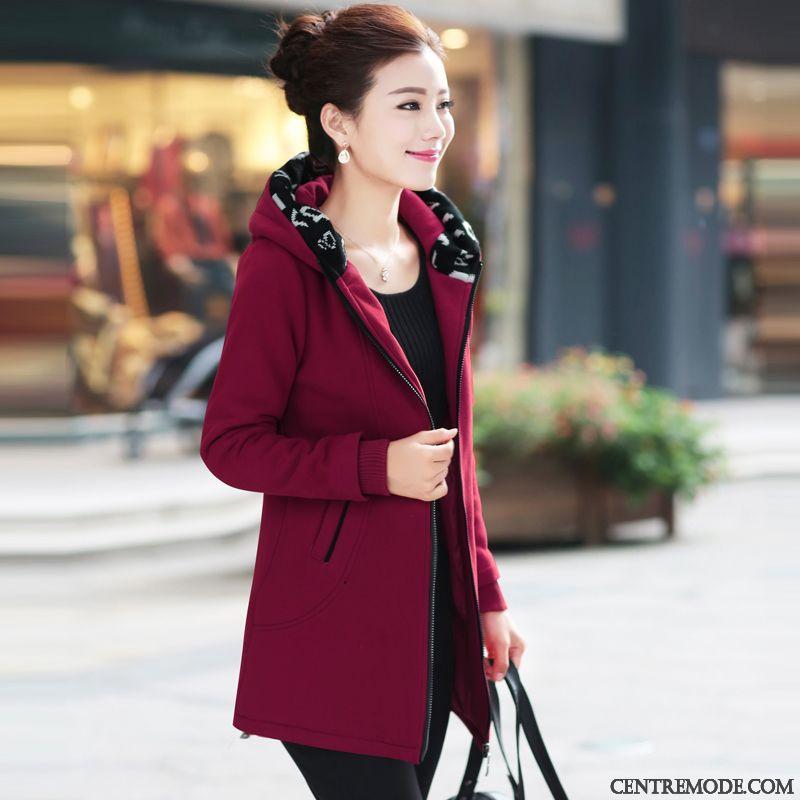 manteau femme hiver avec capuche manteau noir femme pas cher rouge noir. Black Bedroom Furniture Sets. Home Design Ideas