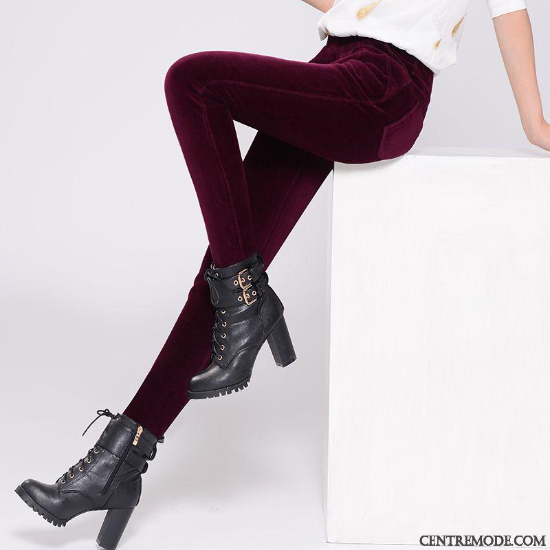 Pantalon Enduit Gris Femme Bleu Cobalt Bordeaux, Jean Coupe Large Femme En Vente