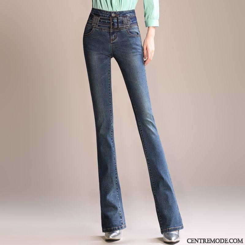 79b7c5d8c96a1 Pantalon Noir Enduit Femme Blanc Bleu Aigue-marine, Jean Slim Taille Basse  Femme