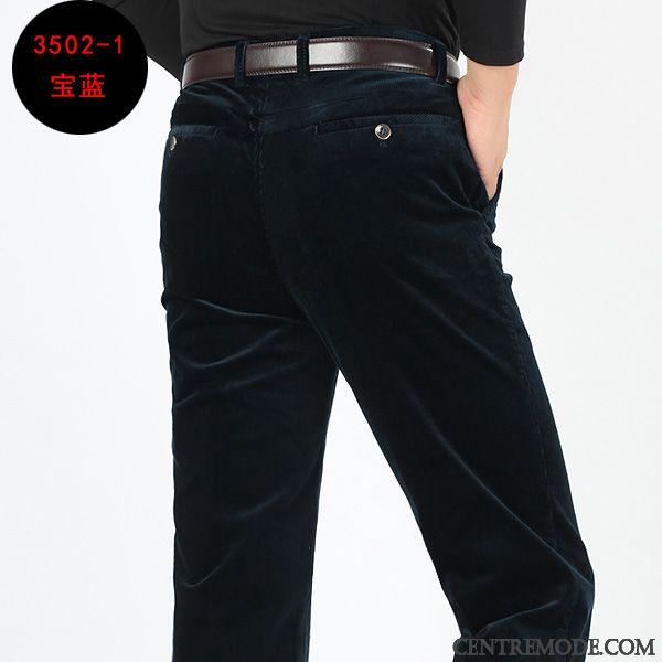 6240c85c2 Pantalon Pour Homme, Pantalon Taille Elastique Pour Homme Or Blanc