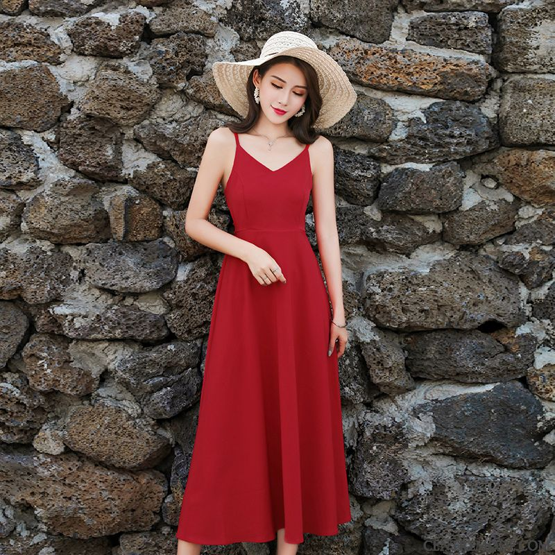 Pink Summer Las Salmon visten rojas White líneaD en mujeres se wOX08Pkn