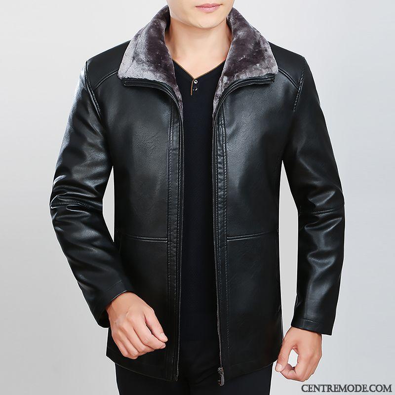 veste courte cuir homme noir rose choquant cuir homme blouson soldes. Black Bedroom Furniture Sets. Home Design Ideas