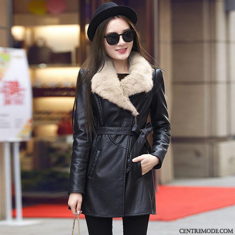 Moto Blouson Cher En Cuir Veste Pas Femme Marron qaxH0