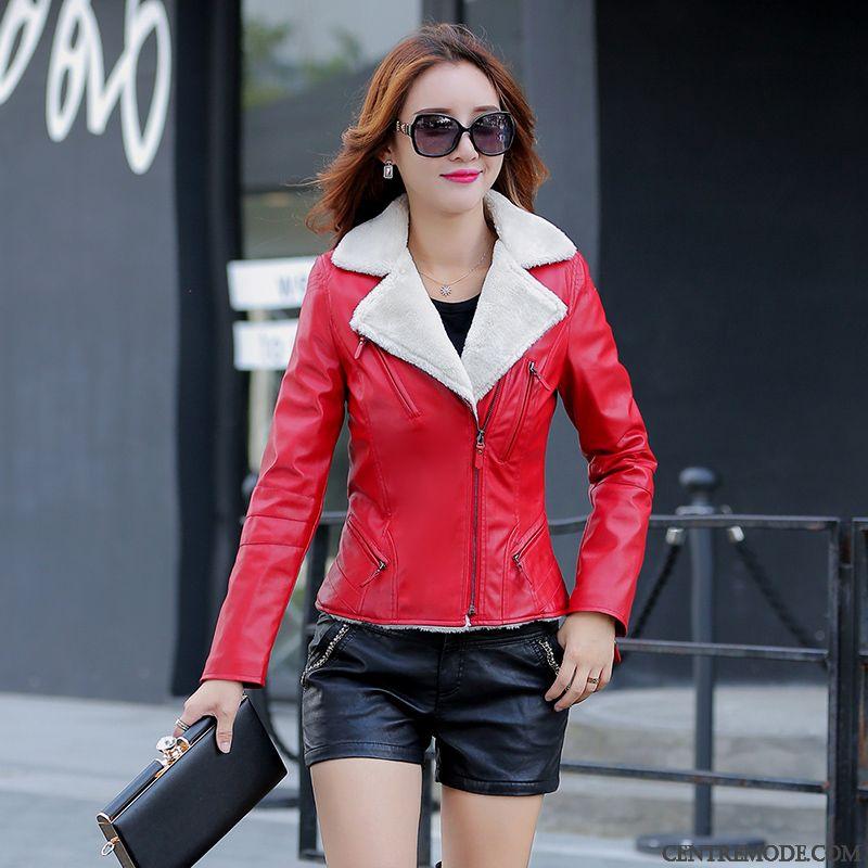 Acheter veste en cuir femme pas cher