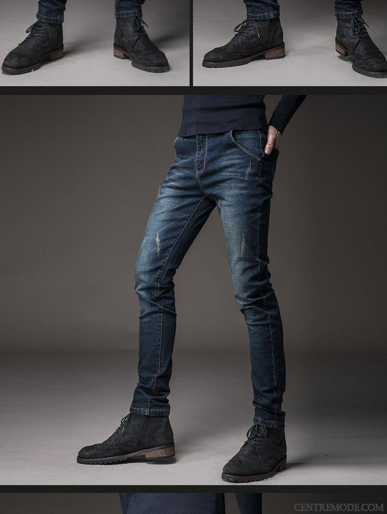 dca09af2a2feb Promo Jeans Homme Bordeaux Blanc D'huître, Pantalon Homme Taille Pas ...
