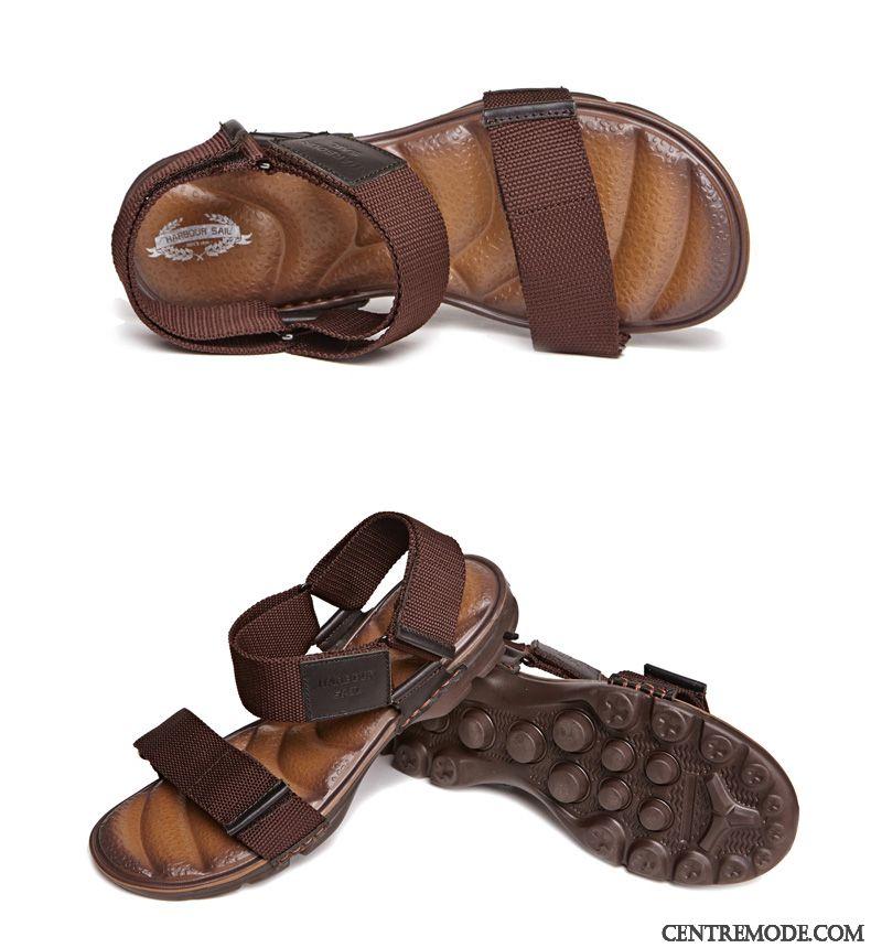Sandales France Noir Homme Blanc Violet, Sandales Cuir Homme