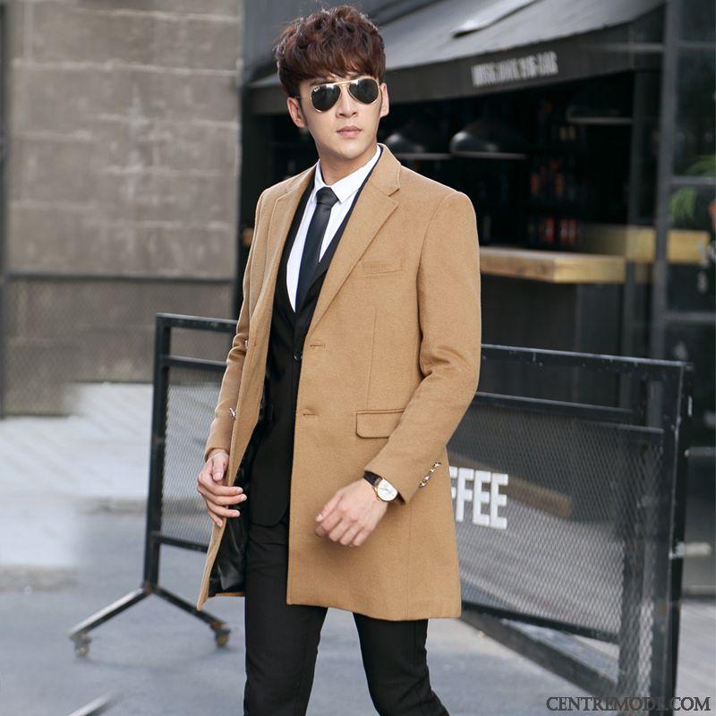 Manteau marron long