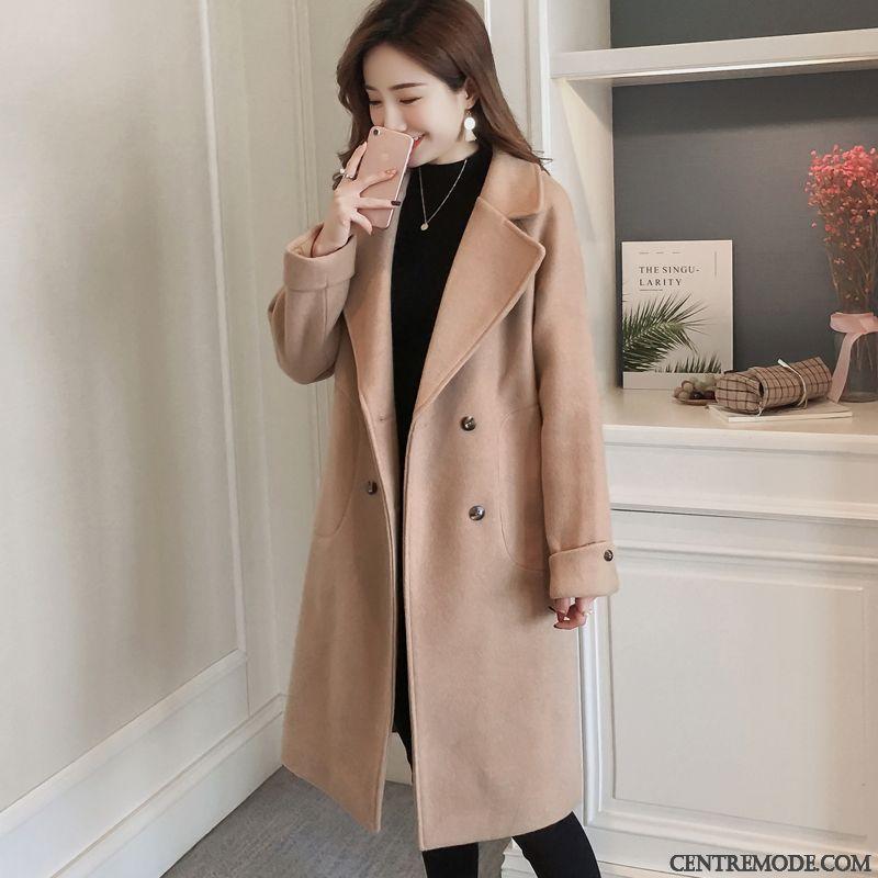 manteau demi saison femme rouge