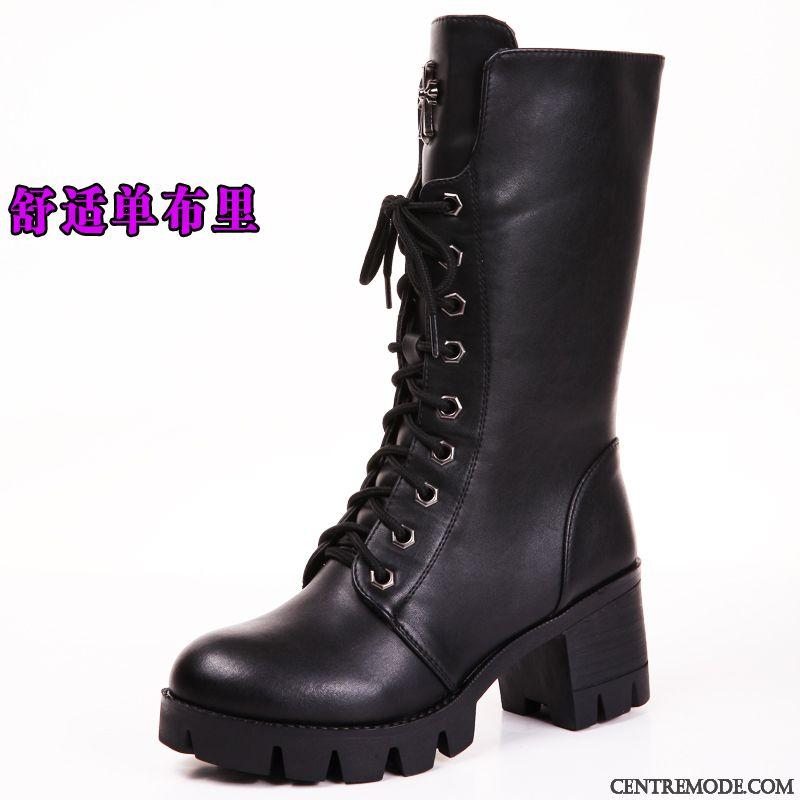 e3972b3131e482 Boots Femme Soldes, Bottine En Cuir Noir Femme Rosybrown Marron