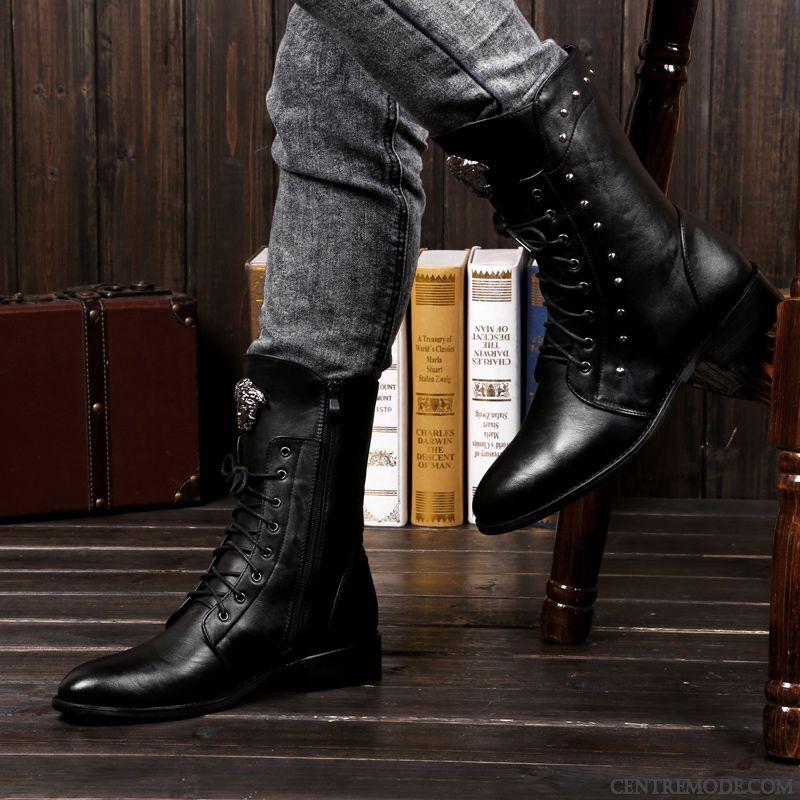 obtenir de nouveaux tout neuf en arrivant Chaussure En Cuir Homme, Bottes Cuir Homme Pas Cher Gris ...