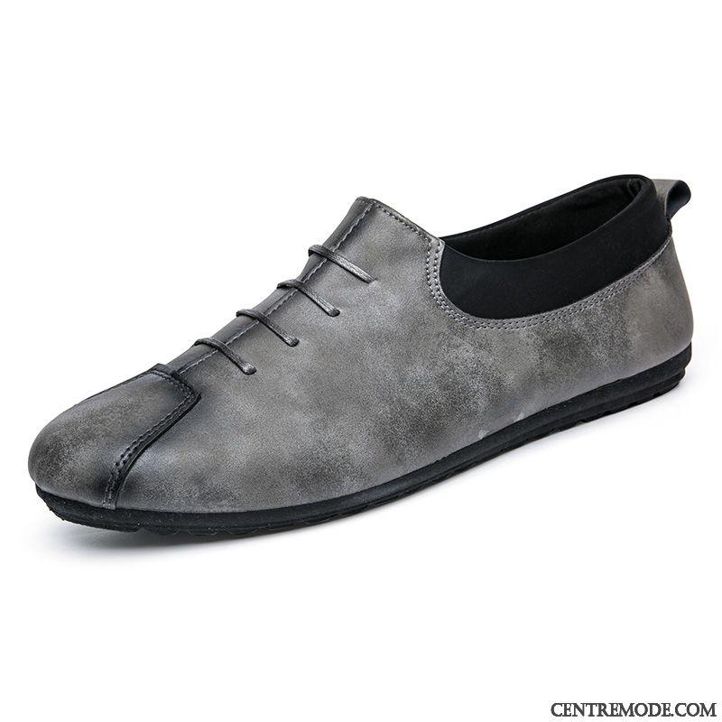 Mocassin Luxe Chaussure Haut Jaunâtre Talon Homme Vert Kaki xv7q4fOg