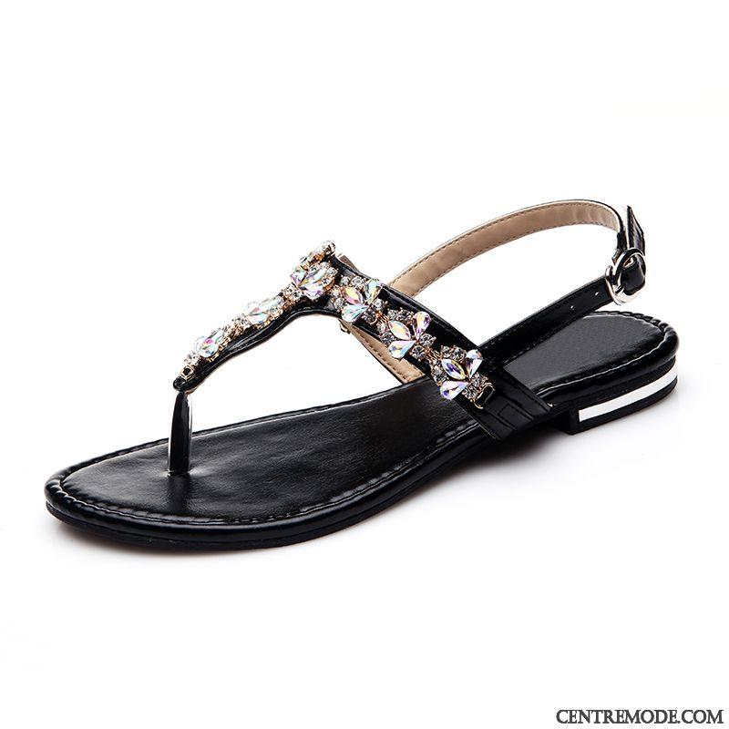 45e858fdde378b Chaussure Sandales Femme Pas Cher Blanc Neigeux Argent, Sandales Femme Cuir  Noir Vendre