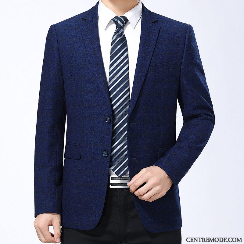 manteau homme blanc bleu