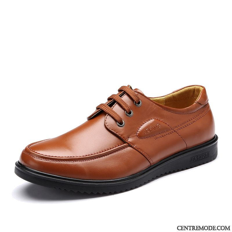 Derbies Homme Marron Cuir Vin Rouge Blé, Bottine Noir En Cuir