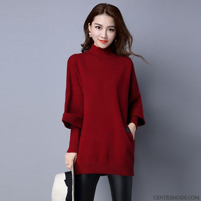 Gilet en laine bordeaux femme
