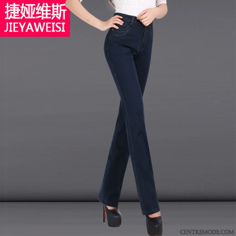 Jean Slim Enduit Femme Neige Bleu Aigue-marine, Pantalon Skinny Taille Haute 48c97b9b4d74