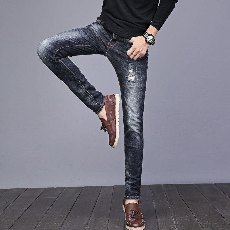 02b3ec4b5d Jeans Homme Pas Cher Taille Haute, Pantalon Noir Homme Slim Pensée  Palegoldenrod