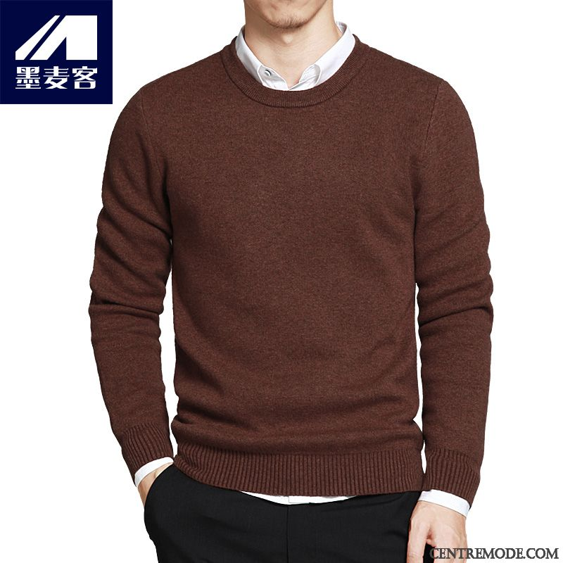 Marque De Pull, Pull Soldes Homme Bordeaux Rose Choquant