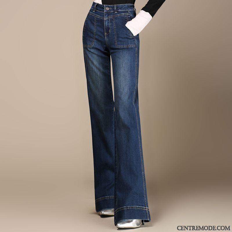 Pantalon Femme Taille Haute Pas Cher, Jeans De Couleur Femme Poudre Bleue  Argent 79d7f2059b9c