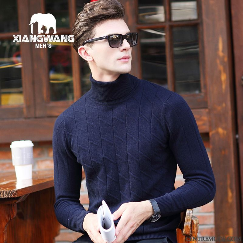 Pull Cardigan Homme Blanc Neige Azur, Cardigan Mode Maille Homme Pas Cher