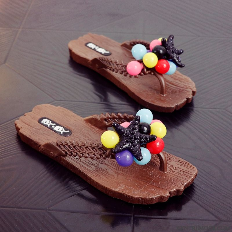 Tongs Femme Tongs Chaussons Tous Les Assortis Plage Outwear Plates Mode