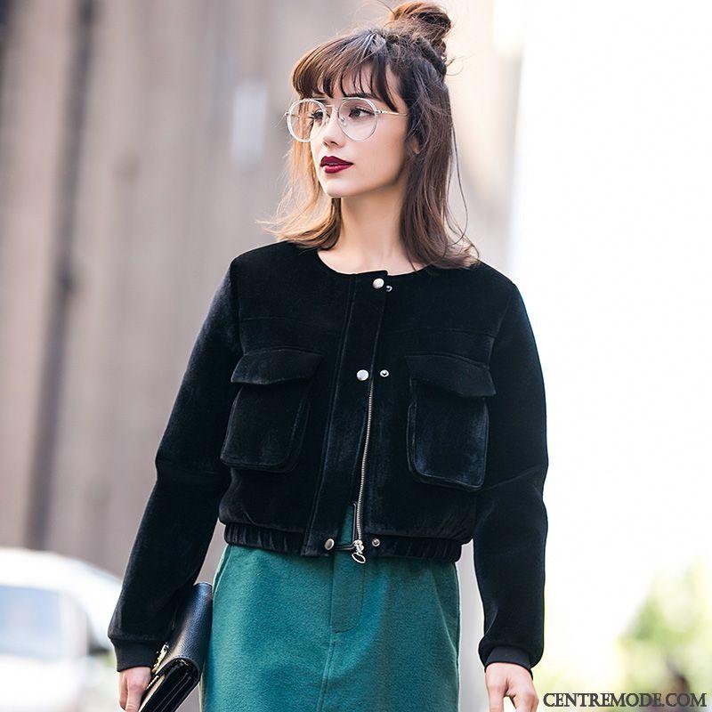 Veste courte turquoise femme